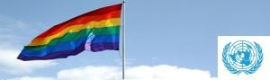 UN + Rainbow flag