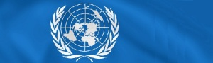 UN Logo on Blue