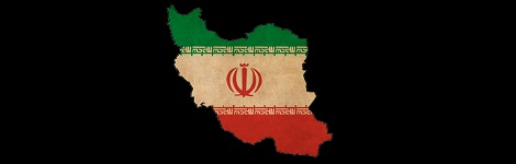 Iran Flag on Map